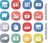 flat vector icon set   shop... | Shutterstock .eps vector #1023963931