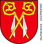 coat of arms of alsheim is... | Shutterstock .eps vector #1023964585