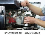 professional coffee machine... | Shutterstock . vector #102396835