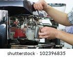 professional coffee machine... | Shutterstock . vector #102396835