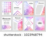 Stock vector abstract vector layout background set for art template design list front page mockup brochure 1023968794