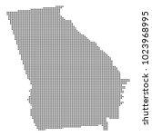 pixel mosaic map of georgia on...