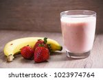 healthy fresh strawberry and... | Shutterstock . vector #1023974764