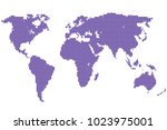 dotted abstract world map | Shutterstock .eps vector #1023975001