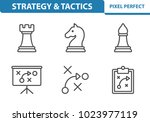 strategy   tactics icons.... | Shutterstock .eps vector #1023977119