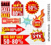 colorful vector sale tags sale... | Shutterstock .eps vector #1023981031