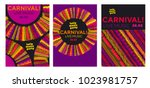 abstract latin  music carnival... | Shutterstock .eps vector #1023981757