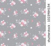 seamless floral pattern.... | Shutterstock .eps vector #1023984154