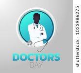 doctors day icon design ... | Shutterstock .eps vector #1023986275