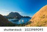 bay of padar island  kodomo... | Shutterstock . vector #1023989095