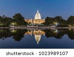 the united states capitol... | Shutterstock . vector #1023989107