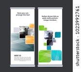 roll up business banner design...   Shutterstock .eps vector #1023992761
