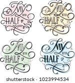 my better half   happy...   Shutterstock .eps vector #1023994534