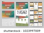 website template  one page... | Shutterstock .eps vector #1023997009