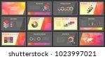 business presentation templates.... | Shutterstock .eps vector #1023997021
