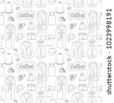 clothes seamless pattern.... | Shutterstock .eps vector #1023998191