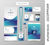corporate identity template... | Shutterstock .eps vector #1023999349