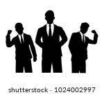 the vector of businessman team...
