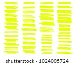 vector yellow highlighter brush ... | Shutterstock .eps vector #1024005724