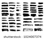 painted grunge stripes set.... | Shutterstock .eps vector #1024007374