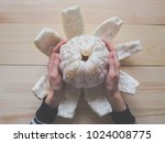 hands peeled pomelo on a... | Shutterstock . vector #1024008775