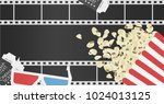 movie poster template for the... | Shutterstock .eps vector #1024013125