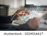 stock exchange broker working... | Shutterstock . vector #1024016617