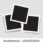 realistic photo frames  vector...   Shutterstock .eps vector #1024023424