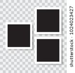 realistic photo frames  vector... | Shutterstock .eps vector #1024023427