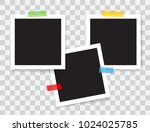 realistic photo frames with... | Shutterstock .eps vector #1024025785