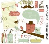 cute scrapbook elements  sticky ... | Shutterstock .eps vector #102402625