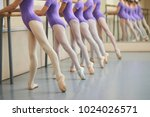 ballerinas in pointe shoes... | Shutterstock . vector #1024026571