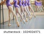 ballerinas in pointe shoes... | Shutterstock . vector #1024026571