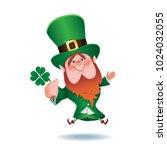 saint patrick's day concept... | Shutterstock .eps vector #1024032055