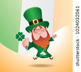 saint patrick's day concept.... | Shutterstock .eps vector #1024032061