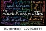 black lives matter word cloud... | Shutterstock .eps vector #1024038559