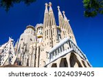 cathedral of la sagrada familia ... | Shutterstock . vector #1024039405