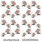 roses and leaves background... | Shutterstock .eps vector #1024044061