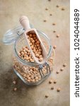 raw organic chickpeas in a...   Shutterstock . vector #1024044889