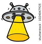 alien spaceship   cartoon...   Shutterstock .eps vector #1024047925