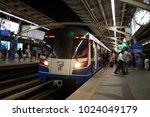 bts sky train station bangkok...   Shutterstock . vector #1024049179