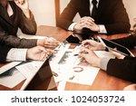 detailed consultation between... | Shutterstock . vector #1024053724