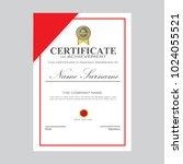 certificate template modern a4... | Shutterstock .eps vector #1024055521