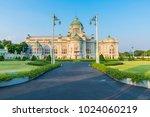 ananta samakhom throne hall is... | Shutterstock . vector #1024060219