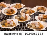 seafood grill   street food in... | Shutterstock . vector #1024063165