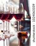 several glasses of red wine | Shutterstock . vector #1024063339