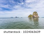 beautiful railay beach with... | Shutterstock . vector #1024063639