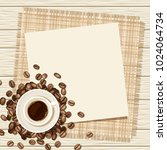 vector background with cup of... | Shutterstock .eps vector #1024064734