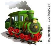 vector railway locomotive.... | Shutterstock .eps vector #1024069294