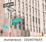 sixth avenue  avenue of the... | Shutterstock . vector #1024074655